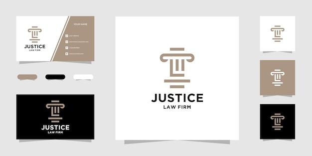 Modelo de logotipo e cartão de visita da initial l law firm