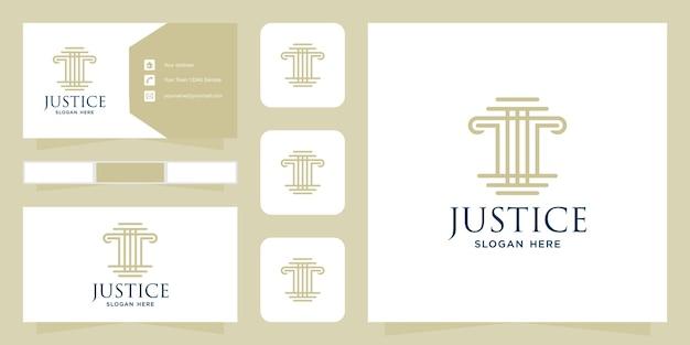 Modelo de logotipo e cartão de visita de escritório de advocacia