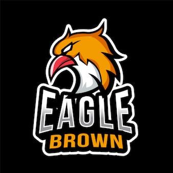 Modelo de logotipo eagle brown esport