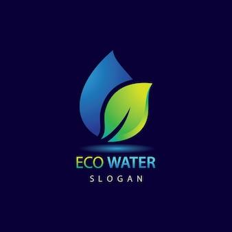 Modelo de logotipo eco water