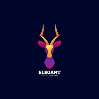 Modelo de logotipo elegant gradient colorful style