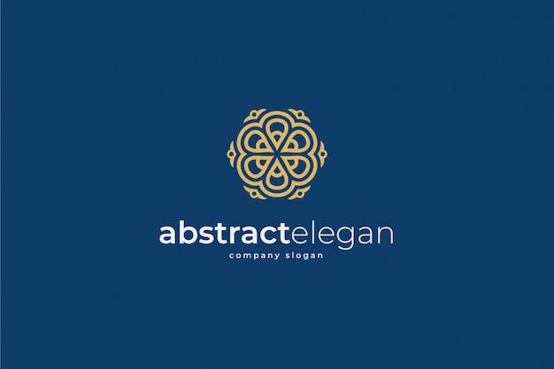 Modelo de logotipo elegante abstrato