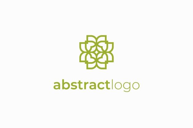 Modelo de logotipo elegante de luxo abstrato
