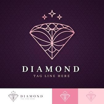 Modelo de logotipo elegante diamante