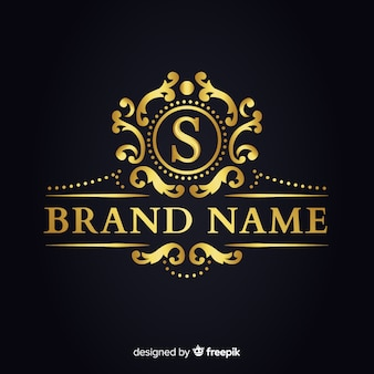 Modelo de logotipo elegante dourado para empresas