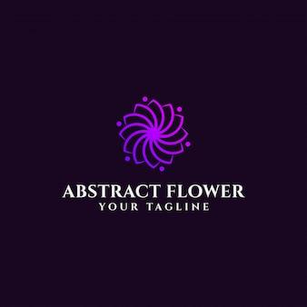 Modelo de logotipo elegante flor abstrata