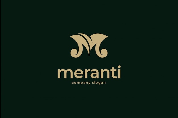 Modelo de logotipo elegante letra m
