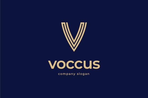Modelo de logotipo elegante letra v