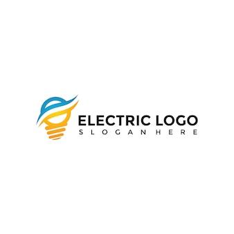 Modelo de logotipo elétrico
