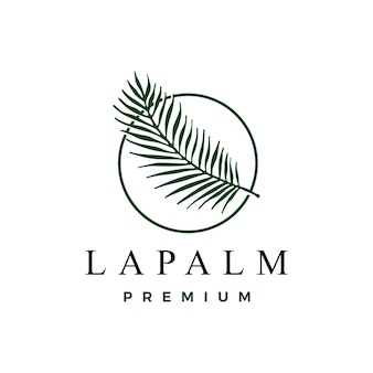 Modelo de logotipo em folha de palmeira