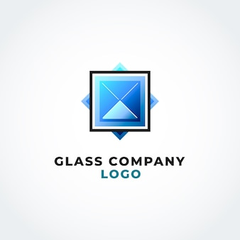 Modelo de logotipo em gradiente de vidro colorido