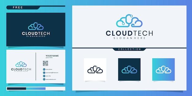 Modelo de logotipo em nuvem. modelo de logotipo de tecnologia. modelo de logotipo de negócios e consultoria.