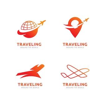 Modelo de logotipo em viagem