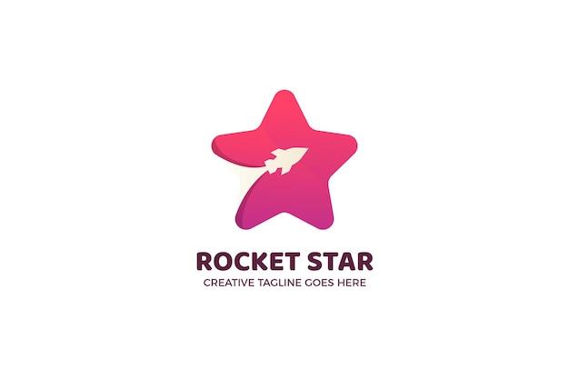 Modelo de logotipo empresarial em ascensão do rocket star