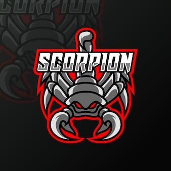 Modelo de logotipo escorpião garra preta mascote esporte esport