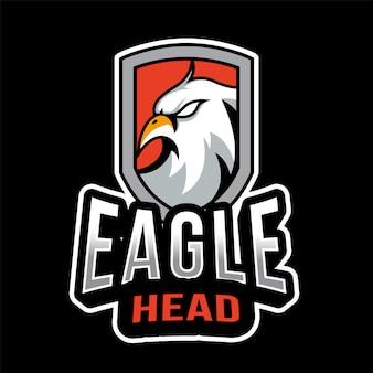 Modelo de logotipo esport cabeça de águia
