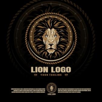 Modelo de logotipo esports esporte leão mascote