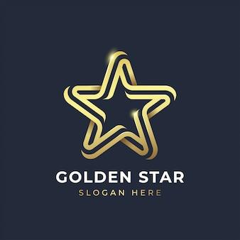 Modelo de logotipo estrela dourada