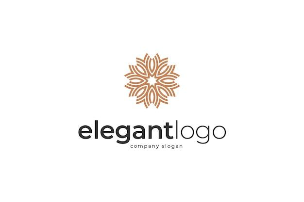 Modelo de logotipo estrela elegante e abstrato