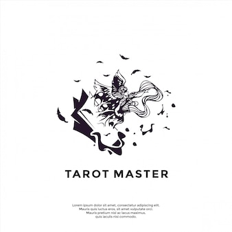 Modelo de logotipo exclusivo tarot