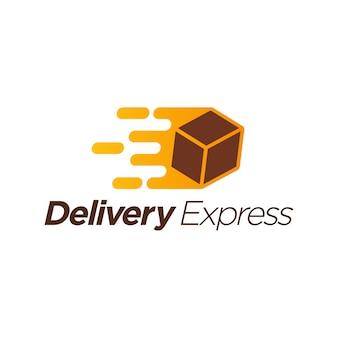 Modelo de logotipo expresso de entrega