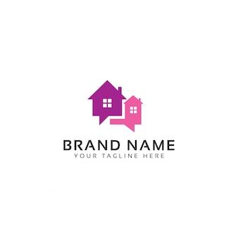 Modelo de logotipo falando da propriedade