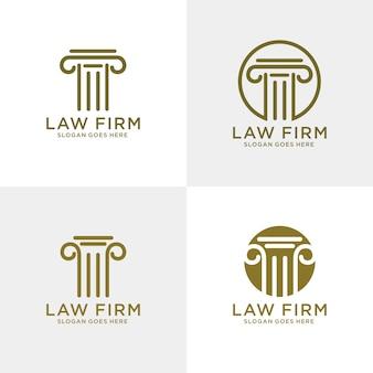 Modelo de logotipo firme de direito