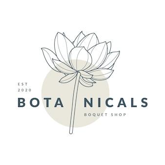 Modelo de logotipo floral botânico