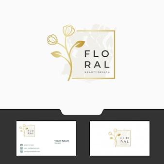 Modelo de logotipo floral / feminino