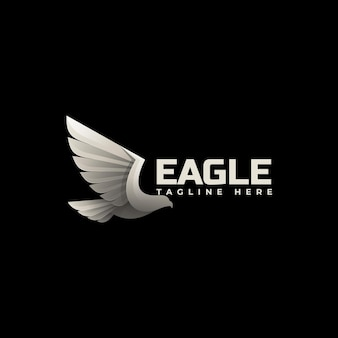 Modelo de logotipo flying eagle gradient colorful style