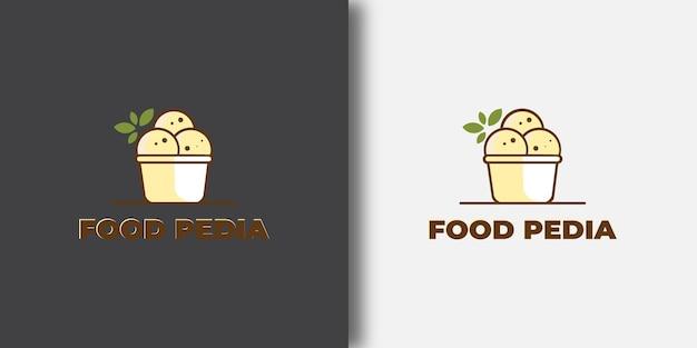 Modelo de logotipo food box com conceito moderno
