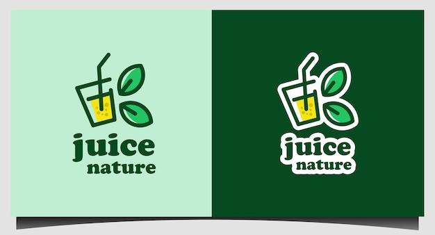 Modelo de logotipo fresh juice nature juice