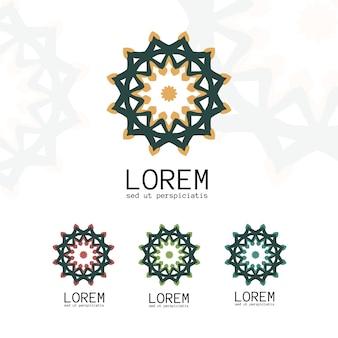 Modelo de logotipo geométrico simples
