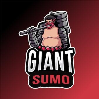 Modelo de logotipo gigante do sumo esport