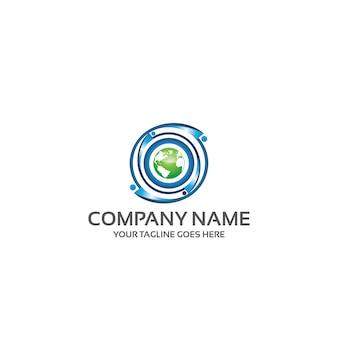 Modelo de logotipo global da humanidade