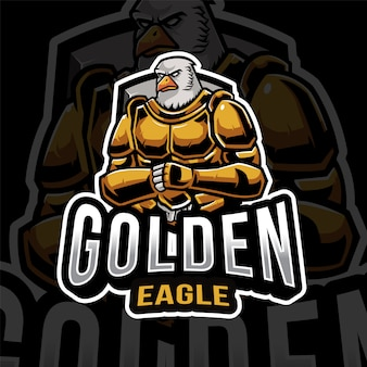 Modelo de logotipo golden eagle esport
