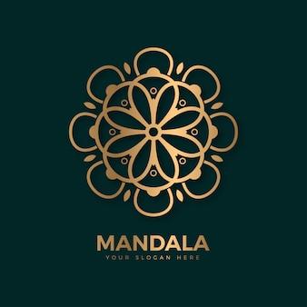 Modelo de logotipo gracioso monograma mandala