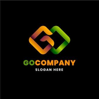 Modelo de logotipo gradient go