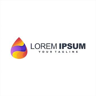 Modelo de logotipo gradiente abstrato
