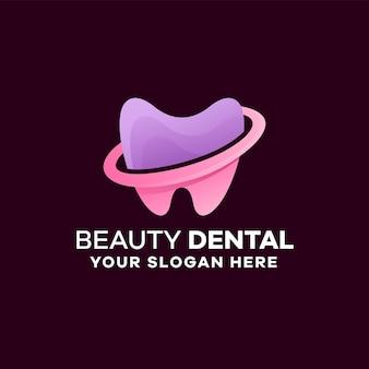 Modelo de logotipo gradiente colorido dental