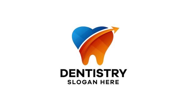 Modelo de logotipo gradiente colorido para odontologia