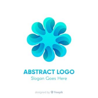 Modelo de logotipo gradiente com forma abstrata