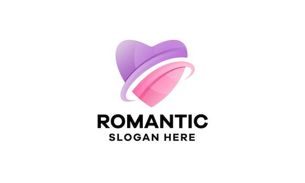 Modelo de logotipo gradiente de amor