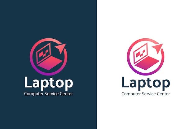 Modelo de logotipo gradiente de computador