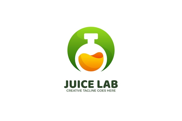 Modelo de logotipo gradiente de experimento do juice lab