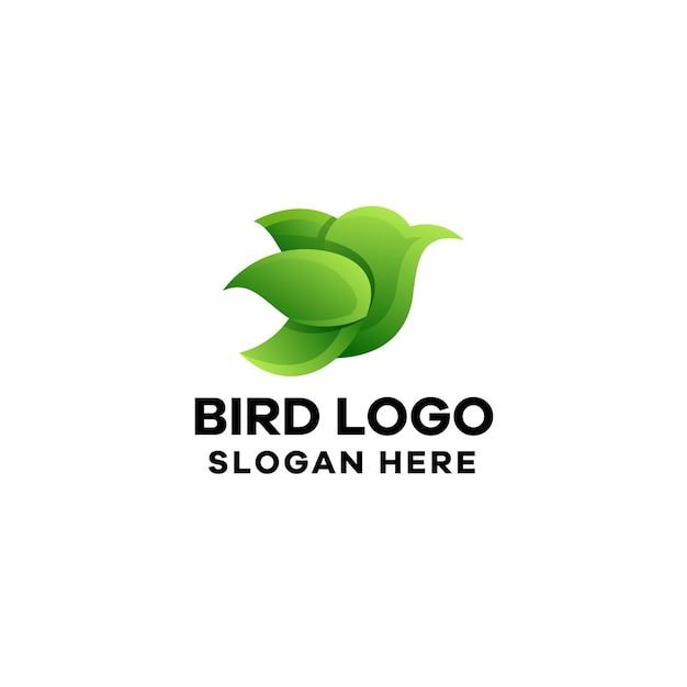 Modelo de logotipo gradiente de pássaro