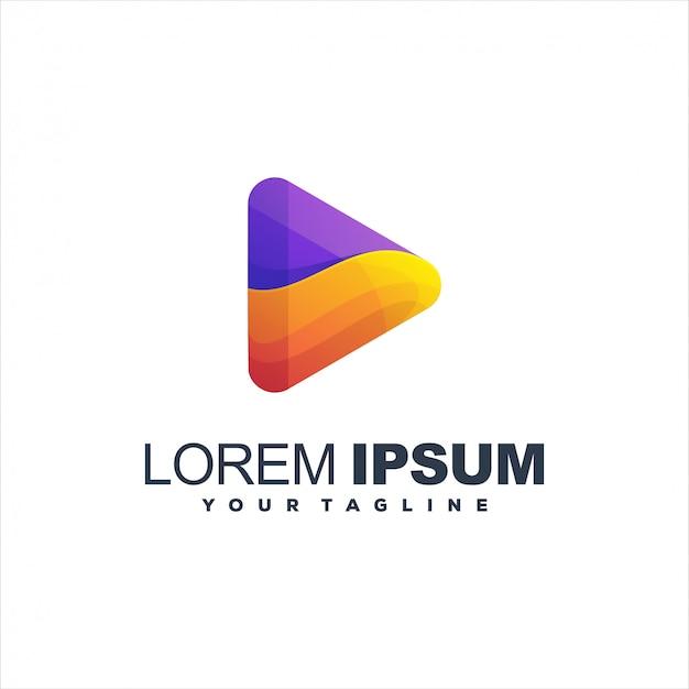 Modelo de logotipo gradiente incrível jogo