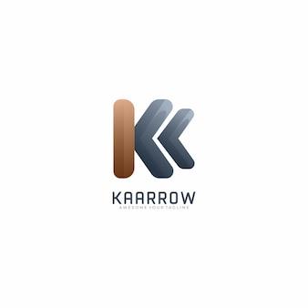 Modelo de logotipo gradiente moderno kaarrow