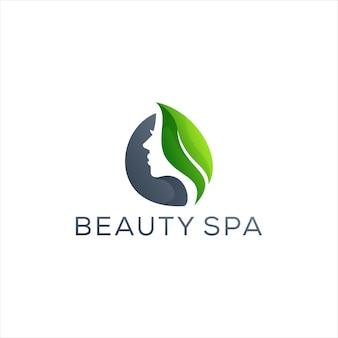 Modelo de logotipo gradiente para senhora da beleza