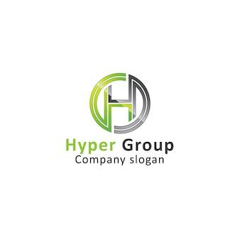 Modelo de logotipo h letter